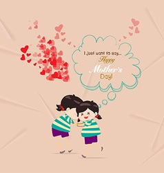 Happy mother day with bubble card vector