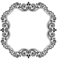 Frame with floral decoration vector
