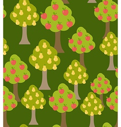 Harvest fruit trees texture with a variety of vector