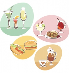 Food and drinks set vector