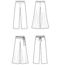 Summer pants vector
