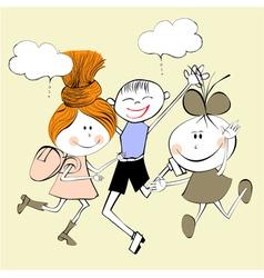 Children laughing vector
