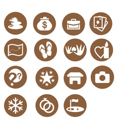 Hotel themes iconset vector