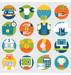 Commerce and savings icons for design vector