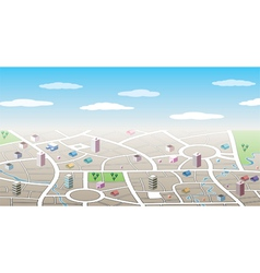 3d city map vector