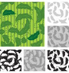 Foliage wallpaper pattern vector