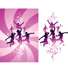 Pink people background vector