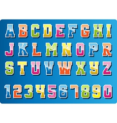 Colourful font vector