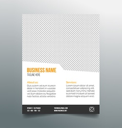 Business poster template - simple clean design vector