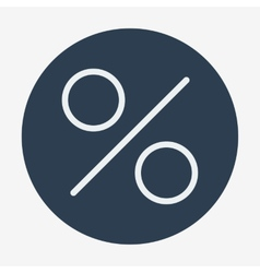 Flat style icon percent symbol vector