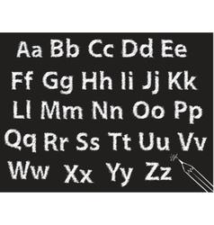 Pencil or charcoal chalk alphabet letter set vector