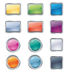 Web design buttons vector