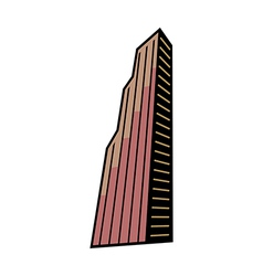 A building in the city vector