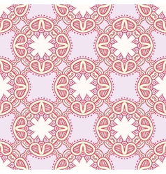 Colorful pattern with lacy ornament vector