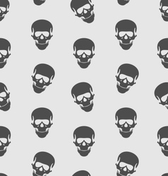 Seamless texture with human skull scary background vector