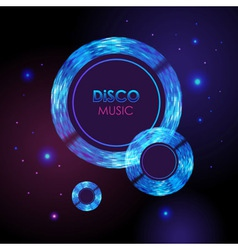 Abstract disco neon background vector