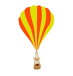 Yellow and orange parachute on white background vector