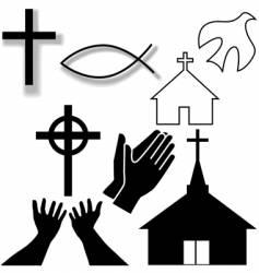 Christian symbols vector