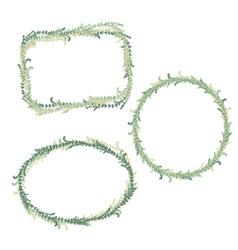 Green floral border frame collection vector