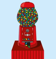 Jelly bean dispenser vector