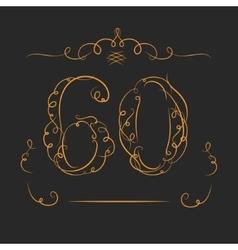 Anniversary 60th vector