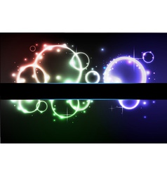 Abstract neon disco background vector