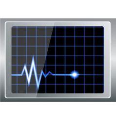 Cardiogram on the screen vector