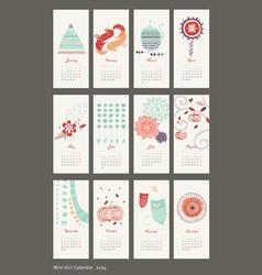 Calendar 2014 cute patterns vector
