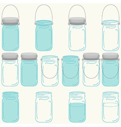 Mason jars set vector