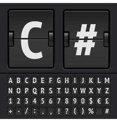 Scoreboard alphabet vector