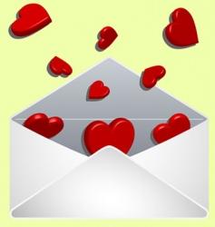 Valentine's envelope vector