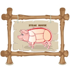 Pig section vector