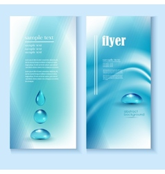 Flyer template with a blue background and the vector