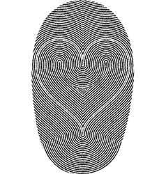 Fingerprints and heart vector