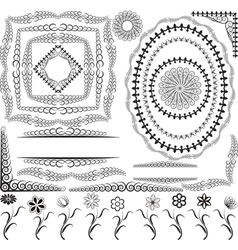 Borders frames and ornaments vector