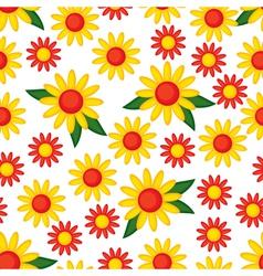 Yellow flower pattern vector
