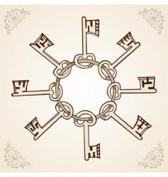 Medieval keys vector