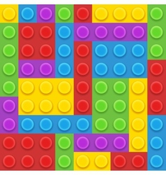 Blocks plastic constructor vector