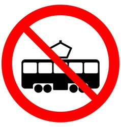 No tram sign vector