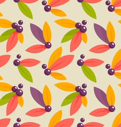 Autumn berries pattern vector
