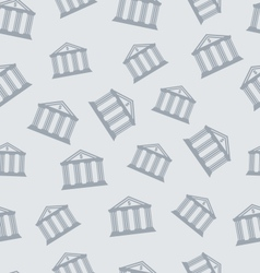 Seamless pattern with building of bank vector