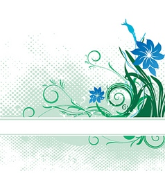 Floral text banner vector
