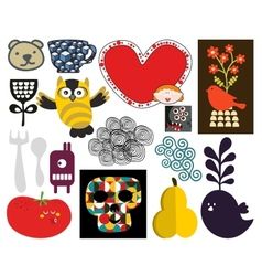 Mix of images and icons vol71 vector