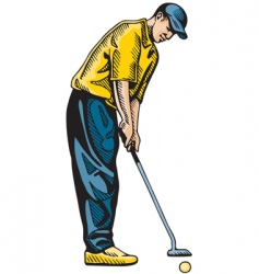 Golf swing vector
