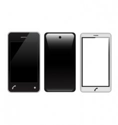 Touch screen smart phones vector