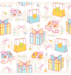 Birthday wrapping paper vector