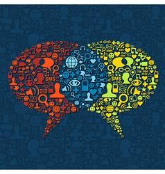 Social media speech bubble interaction vector