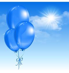 Balloons in the sky vector