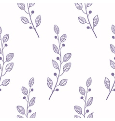 Outline seamless pattern background with branch vector