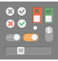Toggle switch icons on dark background on vector